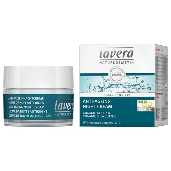 Lavera Basis Sensitiv Anti-Ageing Night Cream Q10, 50 ml