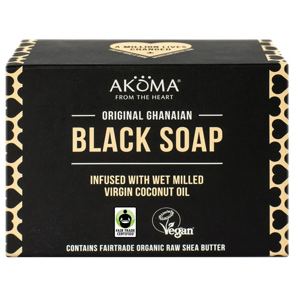 Akoma Original Ghanaian Black Soap, 145 g
