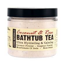 Living Naturally Coconut & Rose Bathtub Tea, 200 g