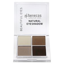 Benecos Natural Quattro Eyeshadow - Coffee & Cream, 8 g