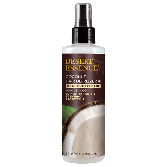 Desert Essence Coconut Hair Defrizzer & Heat Protector, 237 ml