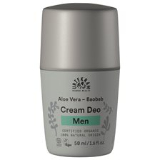 Urtekram Men Cream Deo - Aloe Vera & Baobab, 50 ml