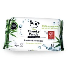 The Cheeky Panda Bamboo Baby Wipes, 64 st