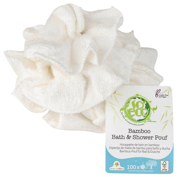 So Eco Bamboo Bath & Shower Pouf