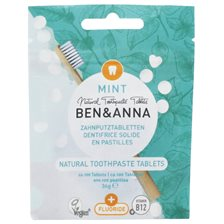 Ben & Anna Natural Toothpaste Tablets with Fluoride - Mint, ca. 100 st