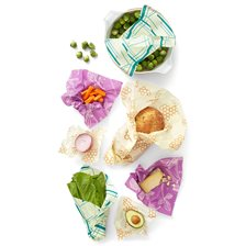 Bee's Wrap Naturligt Folie Variety Pack - Honeycomb, Clover & Geometric, 7 st