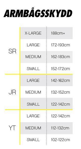 Nedan finner du rekommenderade storleksguider från CCM baserat på ålder 0048f77d40bc9