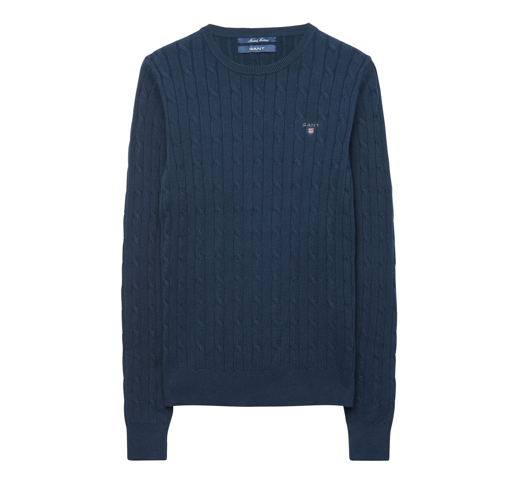Gant Stretch Cotton Cable Crew Sweater Dam - Fri frakt hos Länna Sport 57f76b985a47