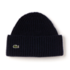Lacoste Turned Edge Ribbed Beanie