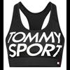 Tommy Hilfiger Medium Logo Sports Bra Dam