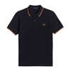 Fred Perry Twin Tipped FP Piké Herr
