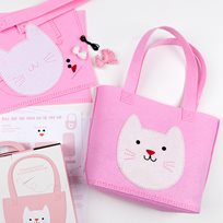 DIY Cookie the cat tote bag