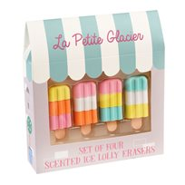 Ice lolly erasers, set of 4