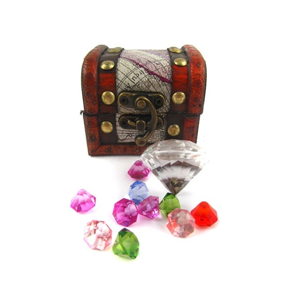 Piratkista med diamanter