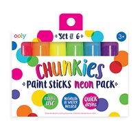 Chunkies paint sticks, 6-p neon