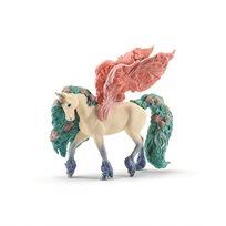 Pegasus med blommor