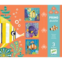 Primo puzzles 9-, 12- och 16 pcs, fishes