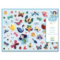 Puffy stickers, little wings