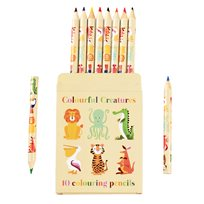 Colourful creatures colouring pencils, 10-p