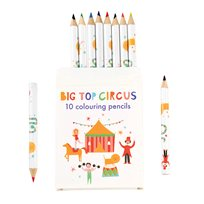 Big top cirkus colouring pencils, 10-p