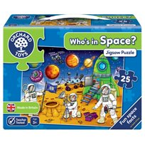 Orchard Toys Pussel, Who's In Space? 25 Bitar
