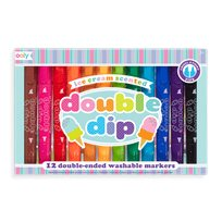 Double Dip Scented Markers, 12-p