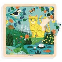 Wooden Puzzle, Lily