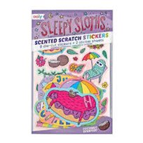 Scented scratch stickers, sleepy sloths