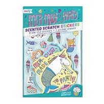 Scented scratch stickers, mer-made to party