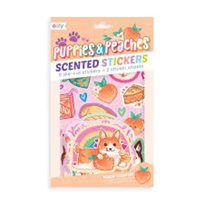 Scented scratch stickers, puppies & peaches