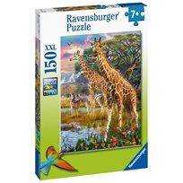 Pussel 150 bitar, giraffes in Africa