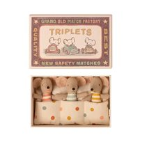 Baby mice, triplets in match box