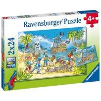 Pussel 2 x 24, adventure island