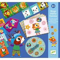 Little friends bingo, memo, domino