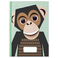 Anteckningsbok A5, chimpans