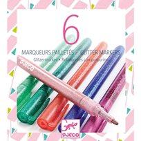 Djeco Glitter Markers, Sweet