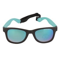 Solglasögon kids 6-11 år, svart/turkos