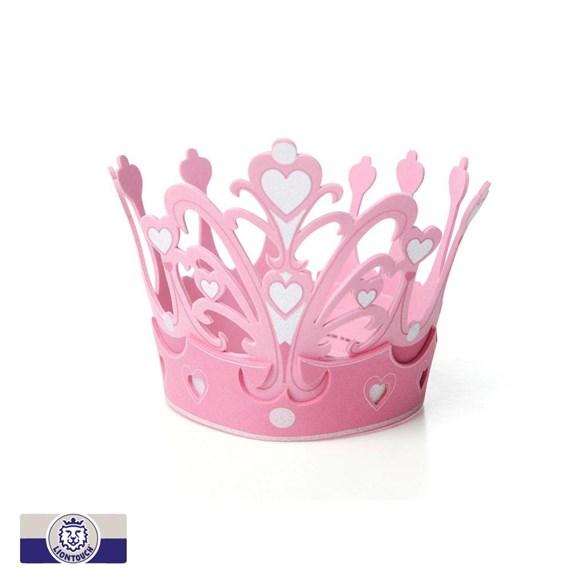 Prinsesskrona, silver hearts