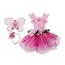 Fairy blooms deluxe dark pink dress, 5-6 år