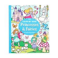 Color-in book, princesses & fairies