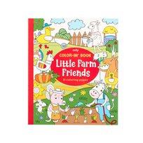 Color-in book, little farm friends