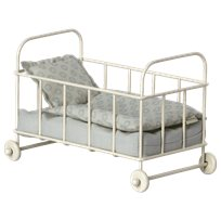 Baby cot, micro blue