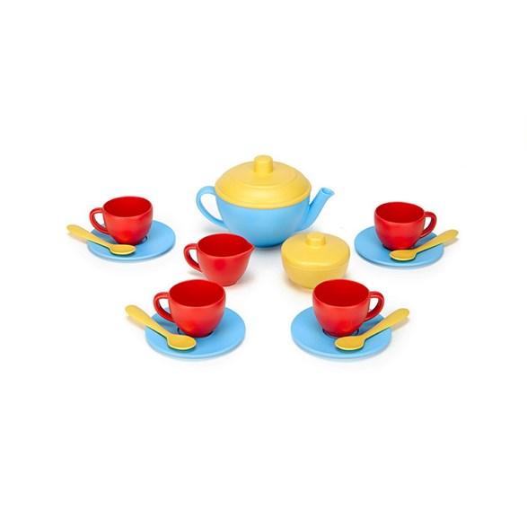 Tea set, blue