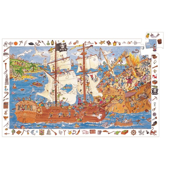 Pussel, Observation - Pirates, 100 bitar