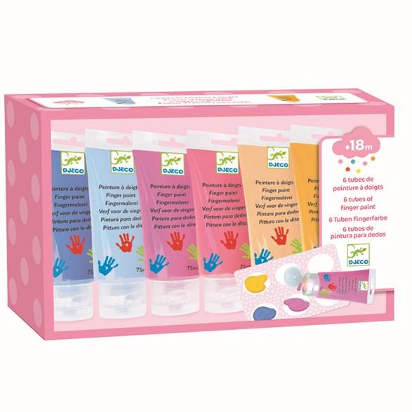 Fingerfärg, sweet, 6 tuber