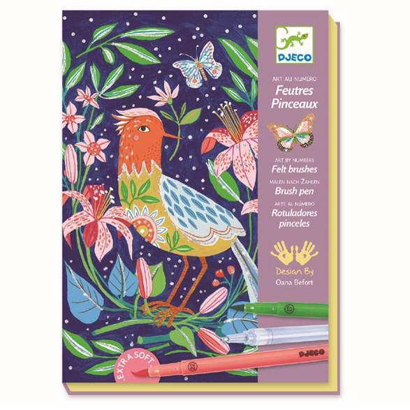 Färgläggning, Felt Tips In The Garden