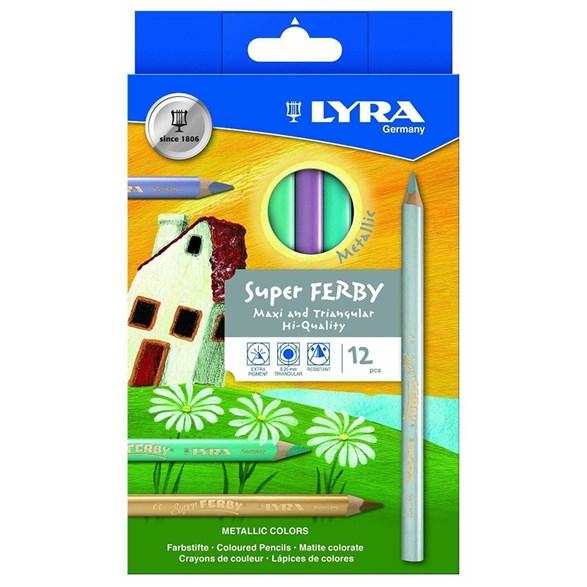 Super Ferby, 12 Coloured Pencils Metallic