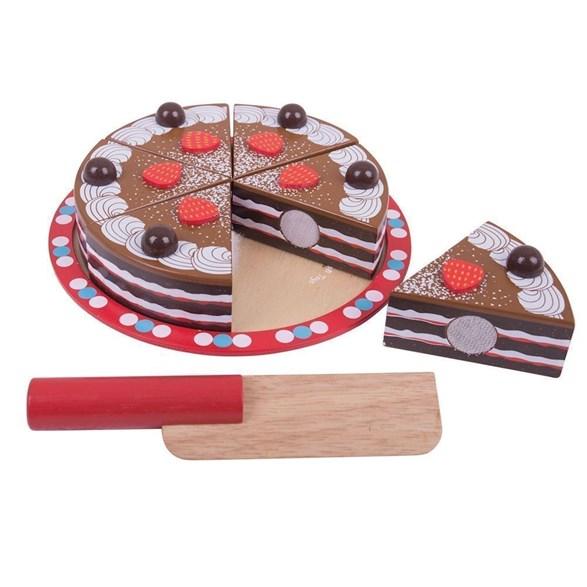 Chokladtårta, trä