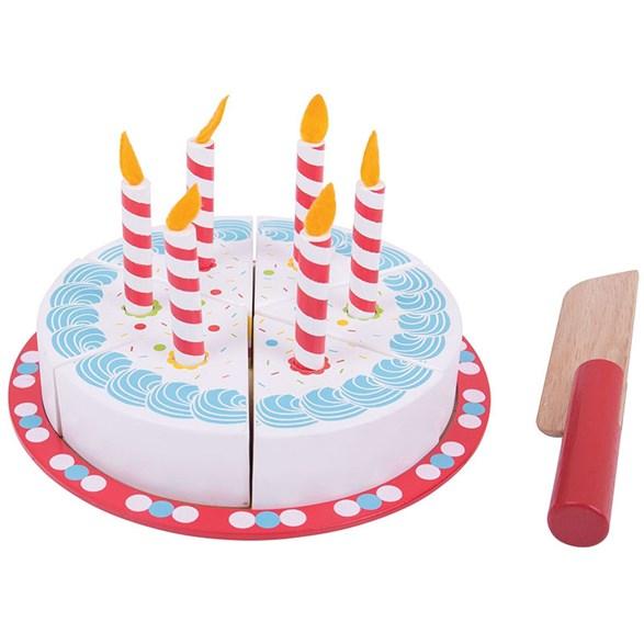 Födelsedagstårta med ljus