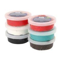 Silk Clay, Mixade Färger - Jul, 6 x 4 g